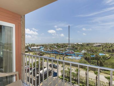 Photo for Gulfview II 611- One Bedroom Condo, Top Floor, Private Balcony Views of the Gulf of Mexico and Isla Blanca Waterpark