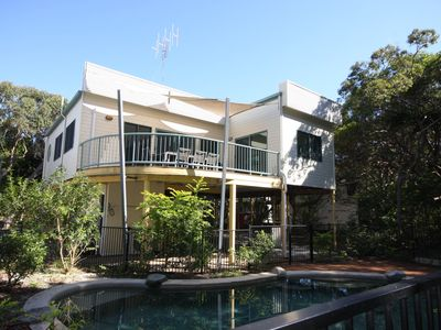 Photo for 20 Orania Court - Two storey family home with swimming pool, patio & large deck. Pet friendly