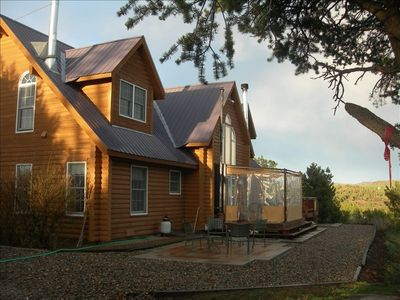 Our 'House with 7 Gables' showing the deck enclosure, (View to the East)