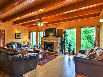 Photo for Spacious Sevierville Cabin w/ Mtn Views & Hot Tub!