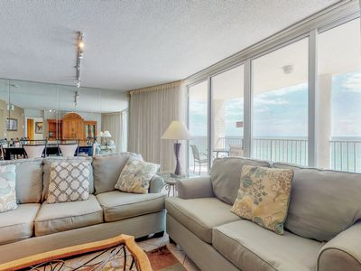 Photo for Beachfront condo in a gated resort w/ Gulf view balcony, 3 pools & hot tub!