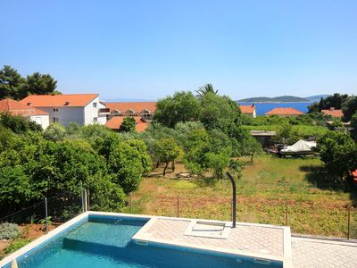 Photo for Two bedroom apartment with terrace and sea view Orebić (Pelješac)