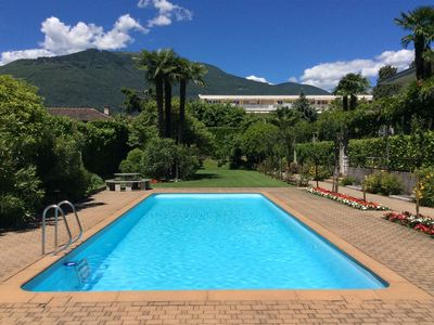Photo for Apartment in top location in Ascona with outdoor pool, near the golf and beach