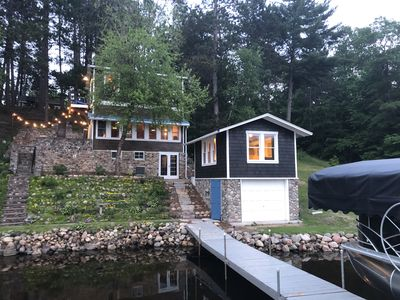 Photo for Quaint Cabin on Picturesque Sibley Lake * PONTOON INCL THRU OCTOBER!*  Sleeps 8