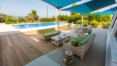 Photo for Argaka Villa - Elegant Villa with Private Pool, Sauna and Views to the Mediterranean Coast and Countryside ! - Free WiFi (Disabled Friendly)