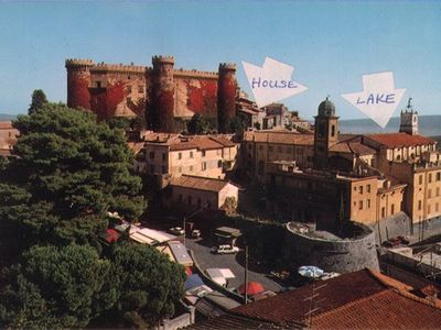 Photo for Historic apartment by Castle on Lake Bracciano, easy access to Rome