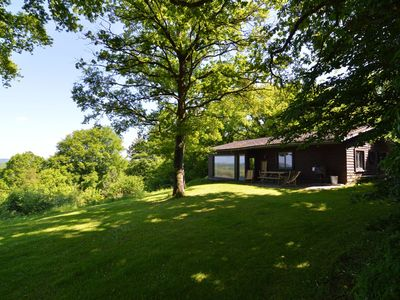 Photo for Light wooden chalet on a splendid estate of 20ha. All In Costs!