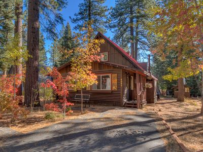 Photo for Tahoe Pines Log Cabin: Easy access year around, beach, trails and skiing nearby!