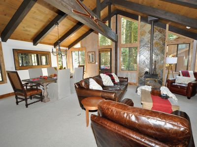 Photo for Remodeled Private Luxury, High speed Wi-Fi, Hot Tub, Sauna & Dog Walk to Lake