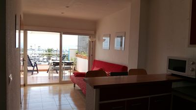 Photo for L'Estartit. Penthouse with splendid terrace in front of the marina
