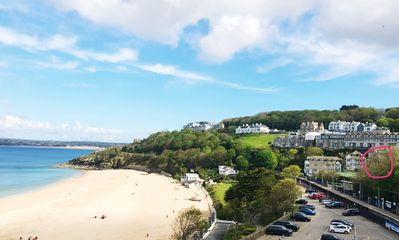 Photo for PORTHMINSTER VIEW - Beautiful apartment with veranda overlooking St Ives