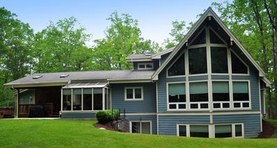 Photo for 5BR 5 Star Chalet-NO HIDDEN FEES, Home Theater, Dock Slip, Indoor Pool, FirePit