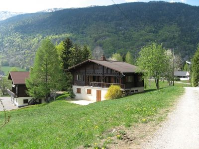 Photo for Cottage cottage facing beginner trails (family with young children) -calme summer