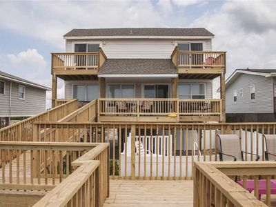 Photo for Atlantic Villa: 4 Bed/2 Bath Oceanfront Home with Spacious Decks and Private Pool