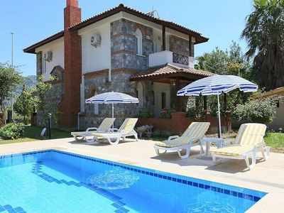 Photo for Villa Fulya 4, large pool, 6 sleeps,air condition, wifi,english channels