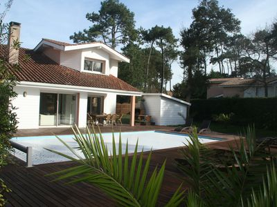 Photo for Villa standing, 13 percent, HEATED pool, WiFi, 250m beach, secure area