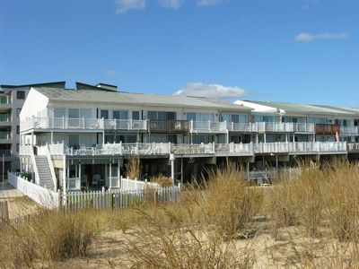 Photo for Bright, fun 3-bedroom oceanfront townhouse with free WiFi located downtown and just steps from the beach!
