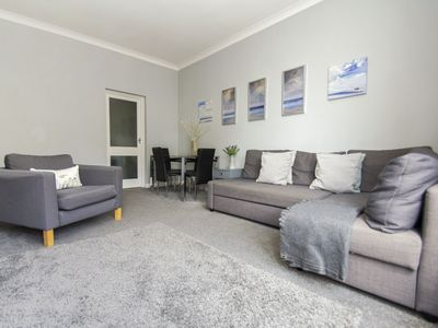 Photo for Chain Pier Apartment: 2 bed, sleeps 6, oblique sea view, WiFi
