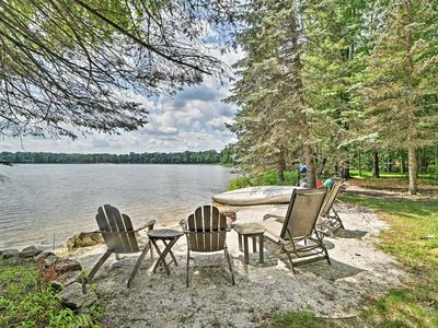 Photo for NEW! Luxe Poconos Pines Home w/ Beach + Amenities!