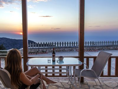 Photo for Bioclimatic villas in NATURA area with splendid Ionian sunsets