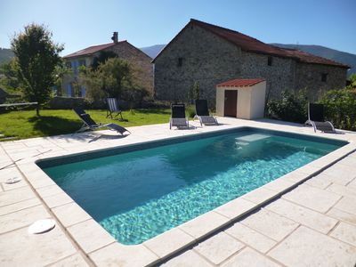 Photo for Charming stone cottage with swimming pool at the foot of Canigou - Conflent