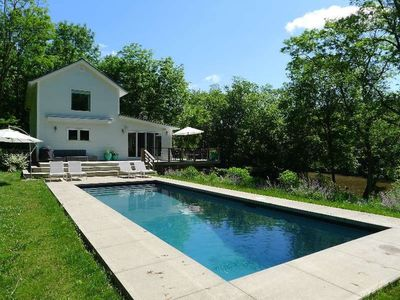 Photo for Stunning Waterfront Hudson, NY Home with Pool