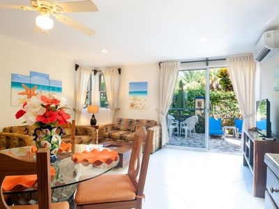 Photo for Quiet apartment with large, private patio,king bed and well equipped kitchen.