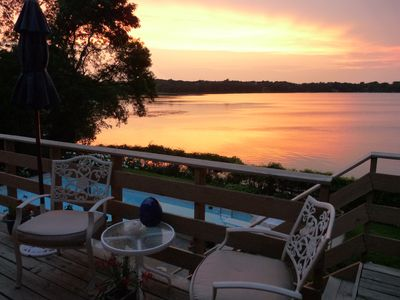 Photo for Sunsets overlooking Inground Pool, Lake, Sauna - 9 miles to downtown Minneapolis