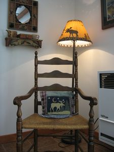 Cute little corner with reading lamp in Living Room