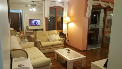 Photo for Apt 2 bed + dep. 110m2, Led Tv, Ar, well furnished, Class A.