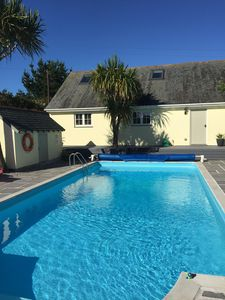 Photo for Rainbows End cottage in a peaceful AONB with outdoor heated Swimming pool