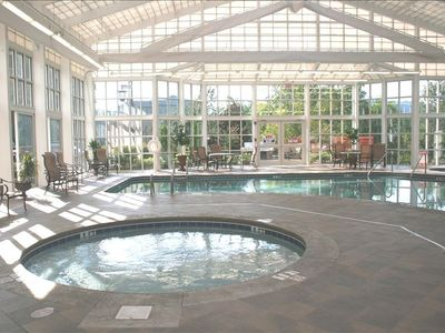Riverstone resort luxury condo near vrbo for Indoor pool with retractable roof