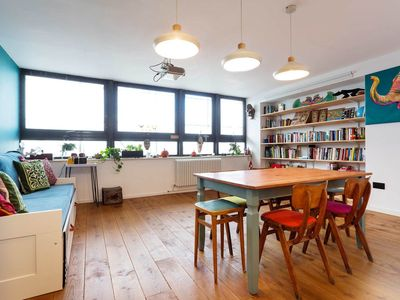 Photo for Quirky open plan two bedroom apartment with links to central London (Veeve)