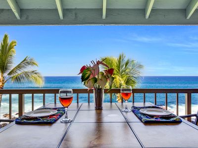 Photo for Ocean Front At It's Best | Walk to Kailua Kona Town | WIFI | Starts at $175/nt