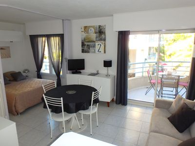 Photo for Studio in Port Frejus, comfortable, air conditioning, free wifi, parking, beach, sea walk