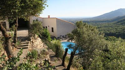 Photo for Villa with pool and breathtaking sea and mountain views in peaceful location