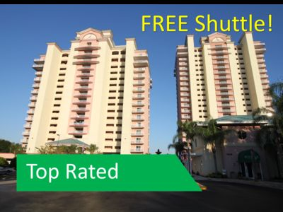 Photo for NEAR Disney, FREE SHUTTLE! OUTSTANDING Views,  TWO Private Balconies!