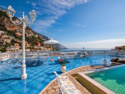 Photo for Luxury villa in Positano center with sea view and private swimming pool