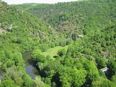"""Photo for holiday home a private pebble beach on the river bank near """"Gorges du Tarn"""""""