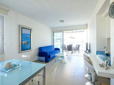 Photo for Sea view 2 bedroom apartment in an amazing location, 200 meters from the beach.