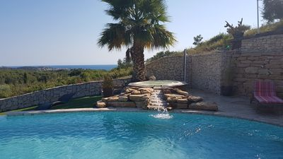 Photo for Beautiful villa with splendid sea view pool, jacuzzi 5 minutes from the beaches