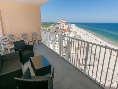 Photo for Gulf View 2/2, Slps 8, Blcny, WiFi, W/D, Pool/Kids Pool/Hot Tub/BBQ, Free Activities - Seawind 1702