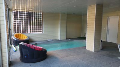 Photo for New house with heated indoor pool in 100 m2 loggia