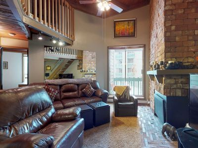 Photo for NEW LISTING! Cozy, rustic condo w/balcony, fireplace & shared hot tub/pool