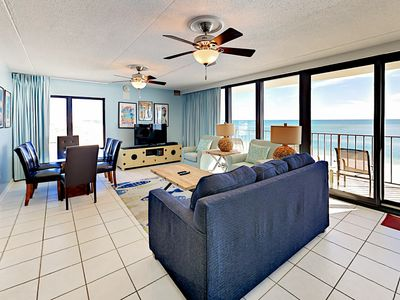 Photo for Gulf-Front 3BR Condo at Island Winds East w/ Stunning Beach View