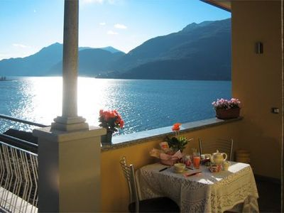 Photo for Apartment directly on Lake Como with fantastic view and direct access to the lake