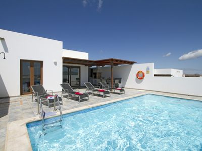 Photo for Private Villa with Fabulous Sea & Mountain Views, Private Pool & Pool Table
