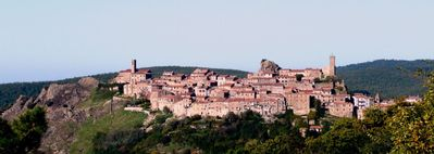 Photo for Medieval house in perched village with exceptional views near Siena near coast