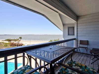 Photo for Top Floor Pool view Condo Stunning Views of the Beach and Savannah River
