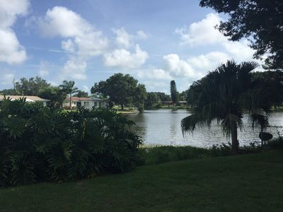 Photo for Tranquil lakefront home: gulf beaches, shopping, and entertainment near by